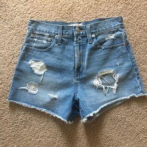 NWOT Madewell denim shorts size 24